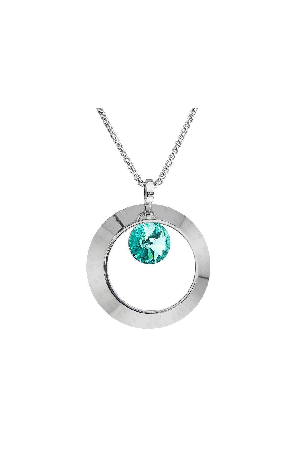 Náhrdelník Ring s rivoli Light Turquoise SWAROVSKI