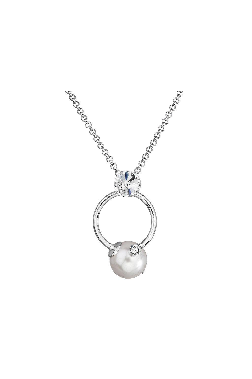 Náhrdelník Perla v kruhu White Pearl SWAROVSKI