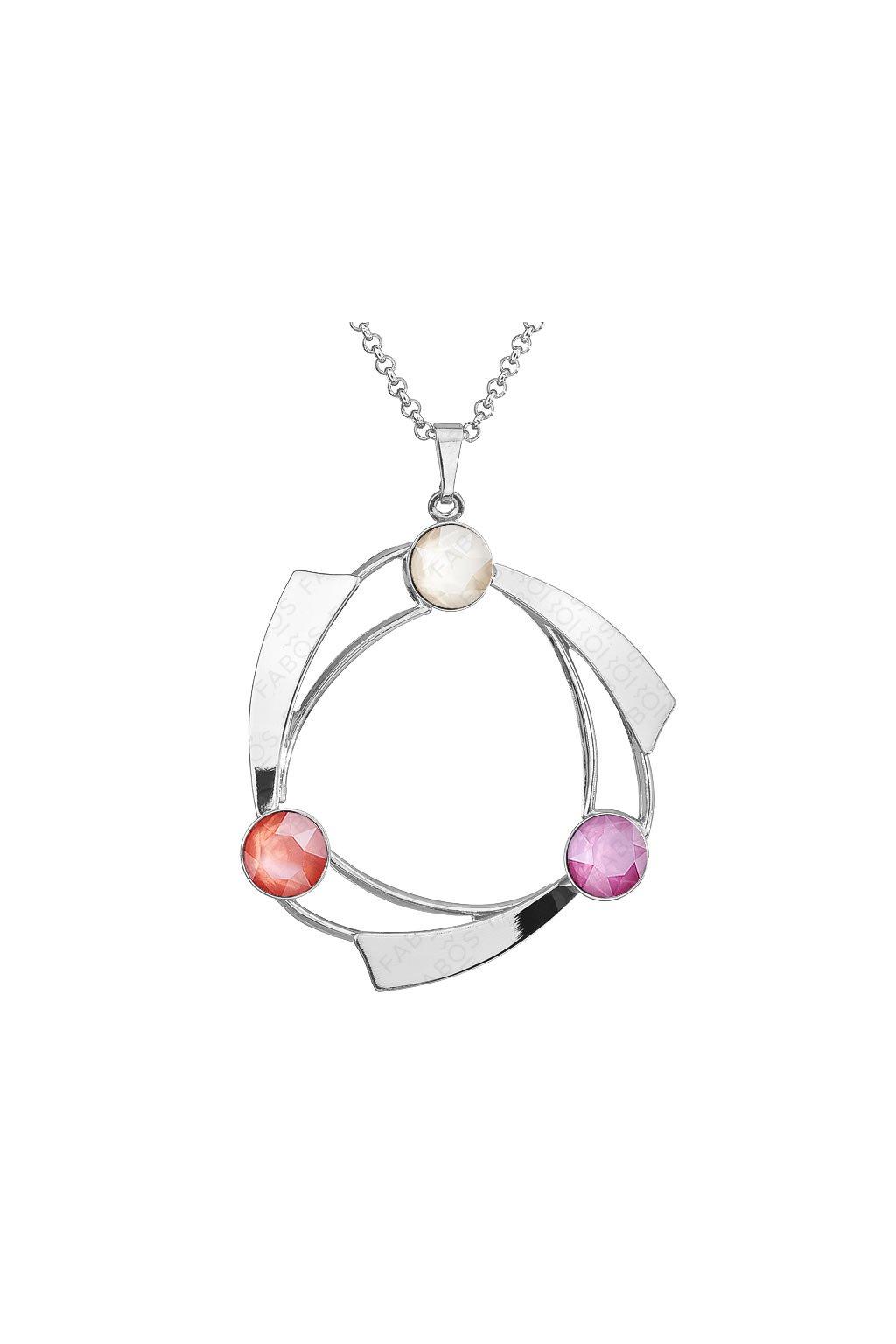 Dámský stříbrný náhrdelník s krystalem