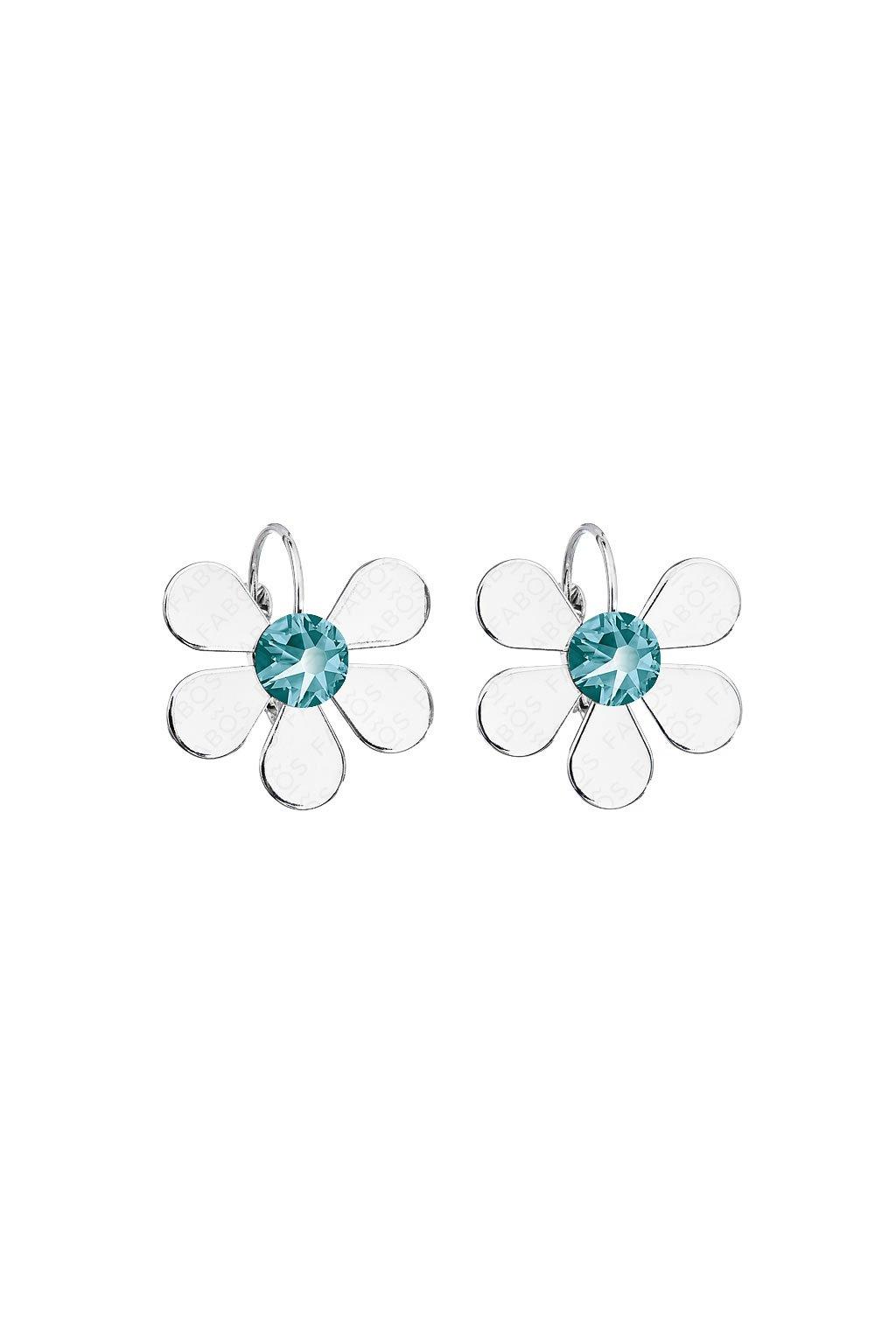 Náušnice Summer Flower Blue SWAROVSKI