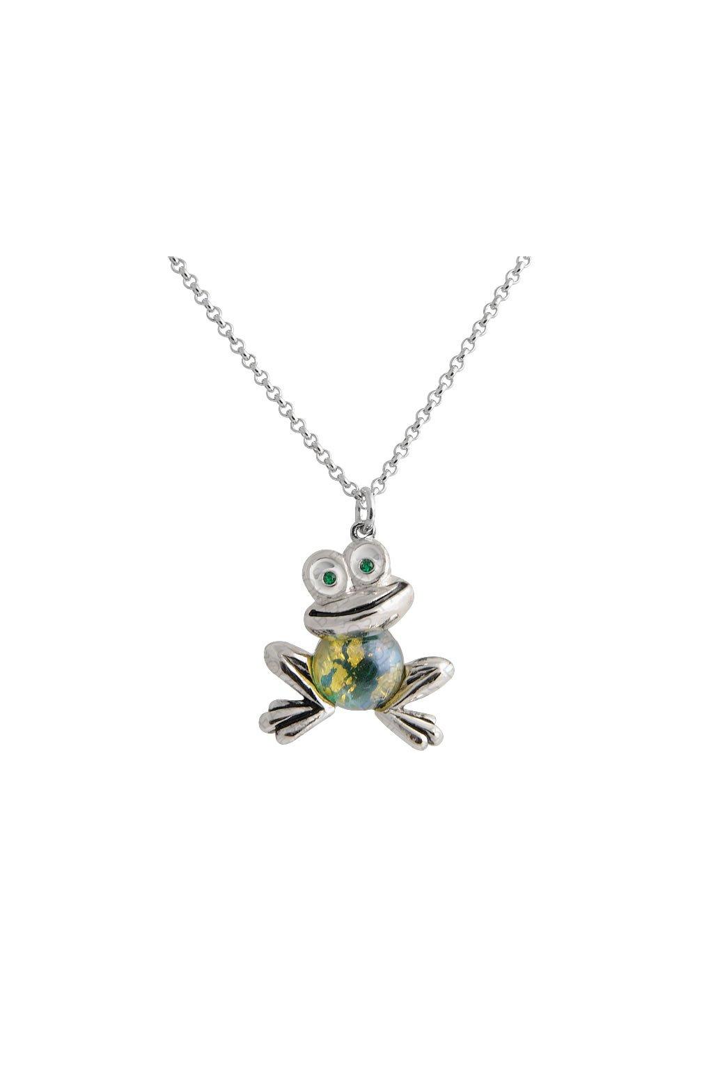 Náhrdelník Žába Green Opal