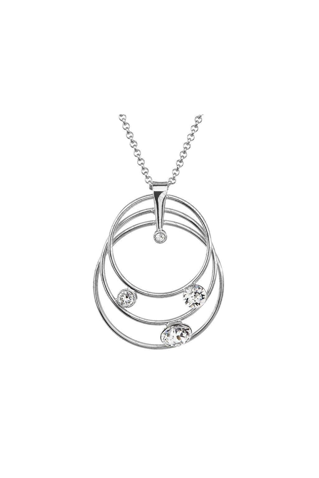 Náhrdelník Tři kruhy Crystal SWAROVSKI