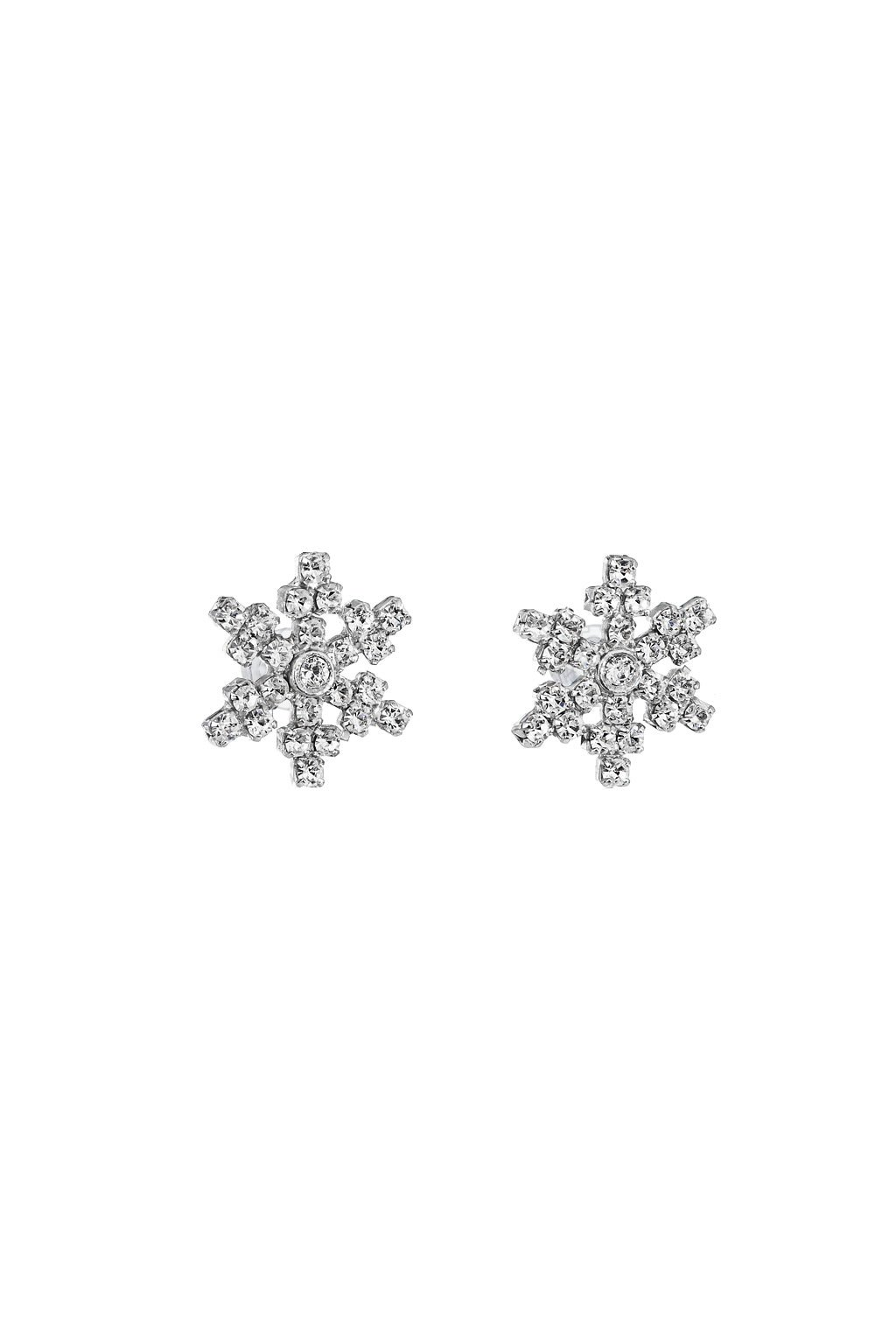 Náušnice vločka malá krystal