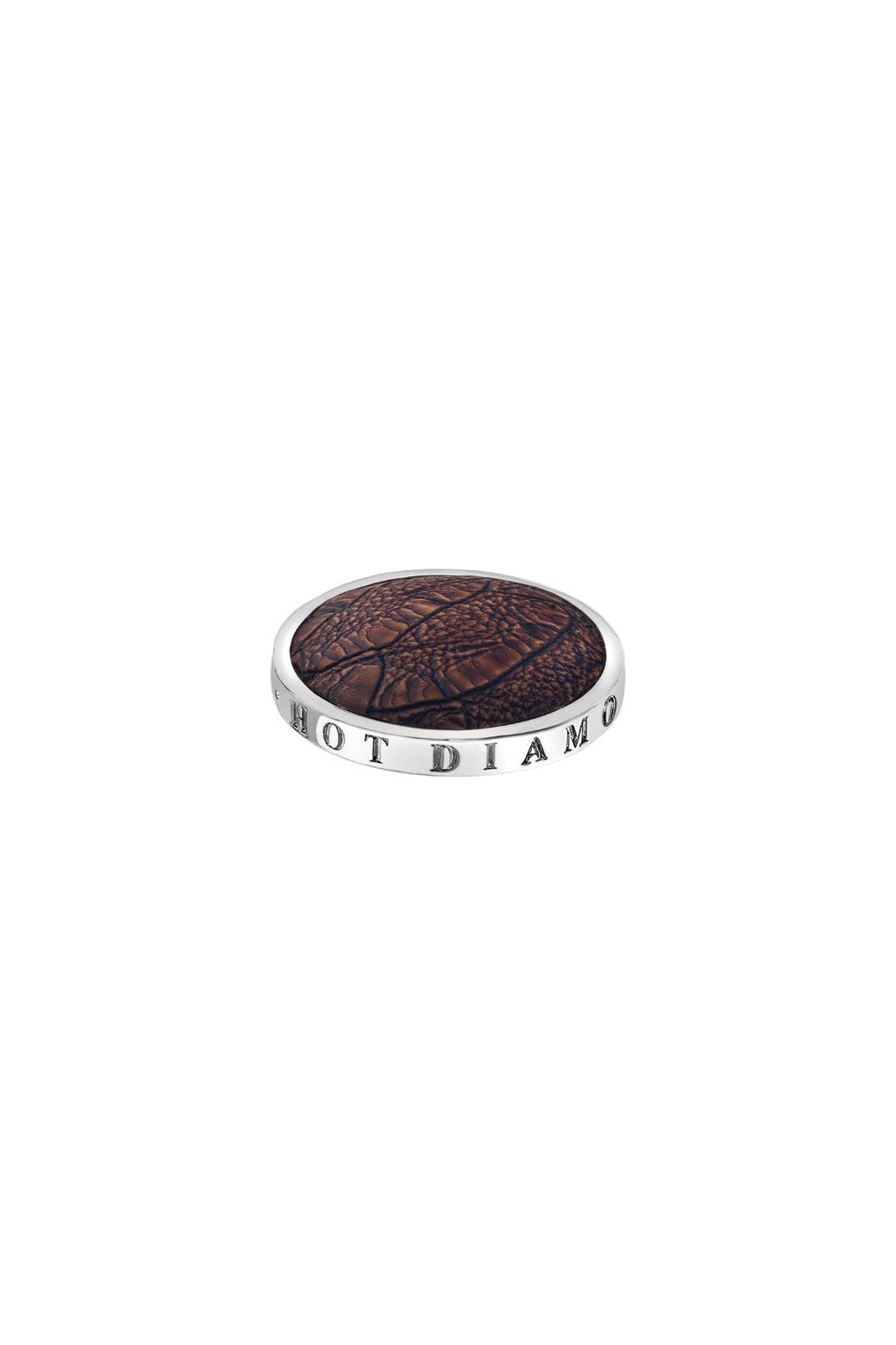 Přívěsek Hot Diamonds Emozioni Faux Crocodile Dark Brown Coin