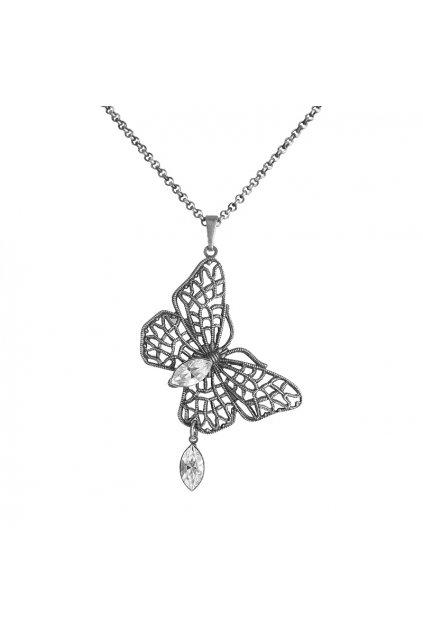 Náhrdelník Naveta Crystal  elements motýlek Swarovski