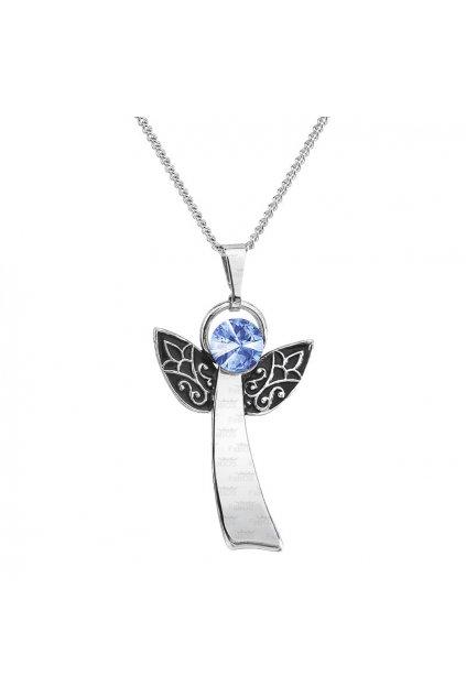 Náhrdelník Anděl štěstí light sapphire FABOS