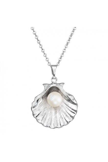 Náhrdelník perla v mušli Pearlescent White Swarovski