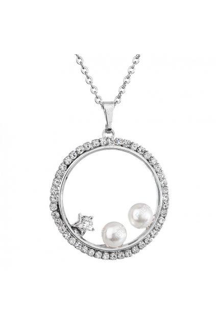Náhrdelník Kruh s perlami Crystal Swarovski
