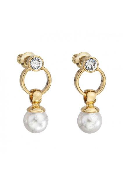 Perlové náušnice zlaté