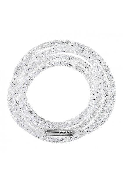 Náramek Crystal Tube 100 cm bílá Swarovski