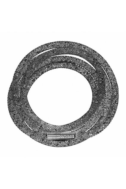 Náramek Crystal Tube 100 cm černá