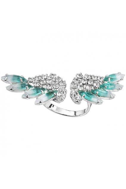 Prsten Andělská křídla Tmavý alabastr SWAROVSKI