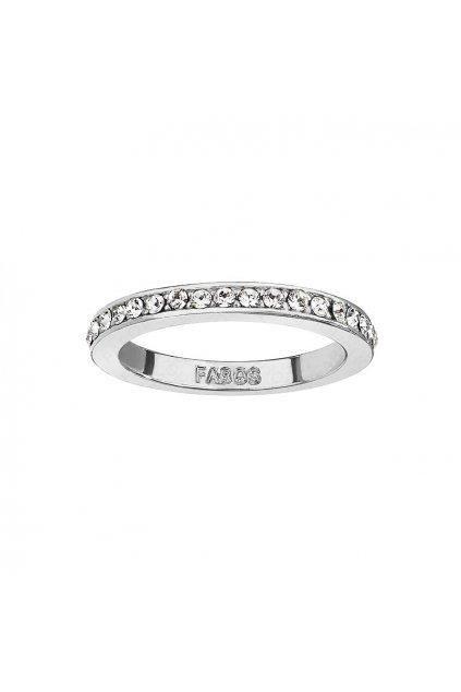 Postříbřený prsten s Crystaly SWAROVSKI
