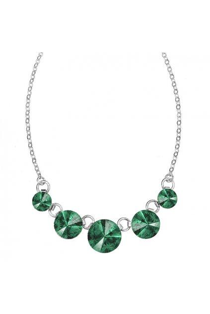 Náhrdelník Rivoli 8-14 Emerald Swarovski elements
