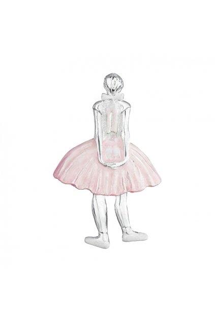 Brož tanečnice baletka s růžovou sukní
