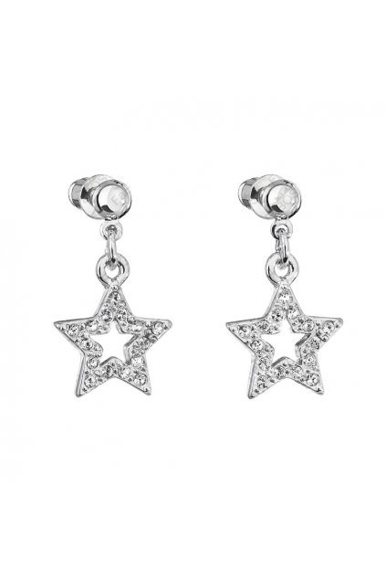 Náušnice Hvězda s šatony Crystal Swarovski