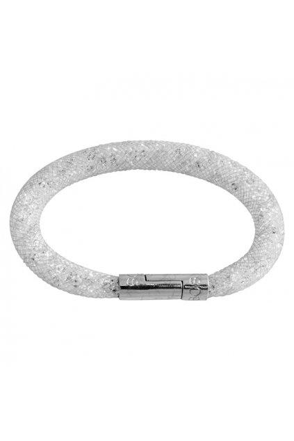 Náramek Crystal Tube 19 cm bílá Swarovski
