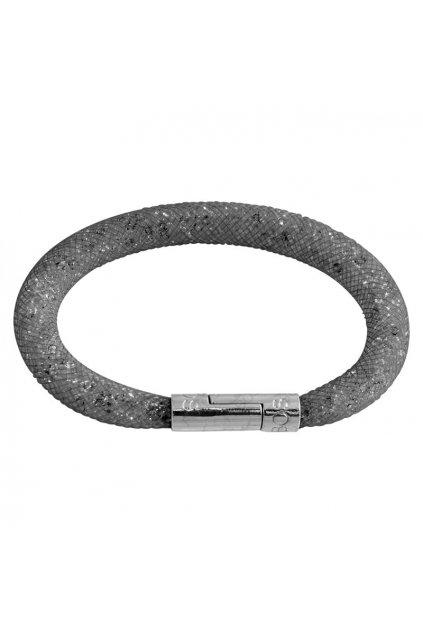 Náramek Crystal Tube 19 cm černá Swarovski
