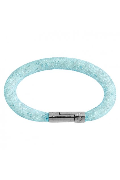 Náramek Crystal Tube 19 cm světle modrá