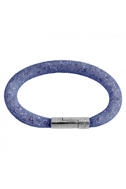 Náramek Crystal Tube 19 cm tmavě modrá Swarovski