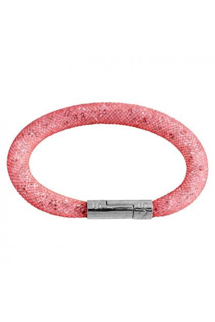 Náramek Crystal Tube 19 cm červená