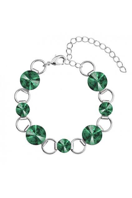 Náramek Rivoli 8-12 Emerald  elements Swarovski