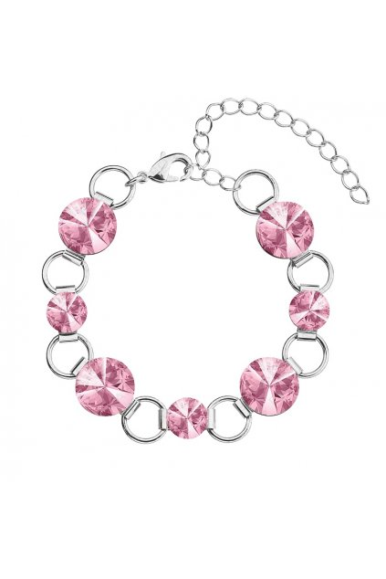 Náramek Rivoli 8-12 Lt. rose Swarovski elements