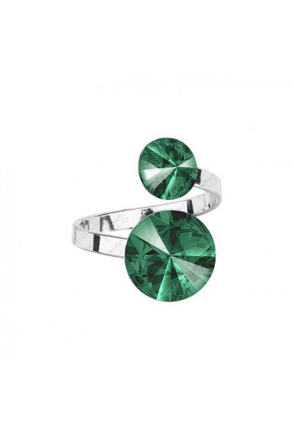Prsten Rivoli 8-12 Emerald SWAROVSKI