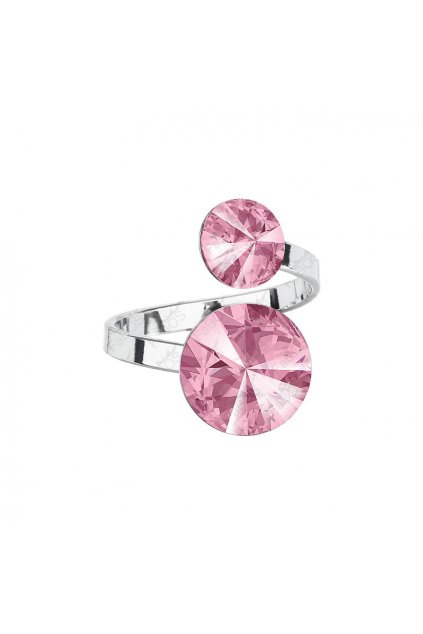 Prsten Rivoli 8-12 Light Rose SWAROVSKI