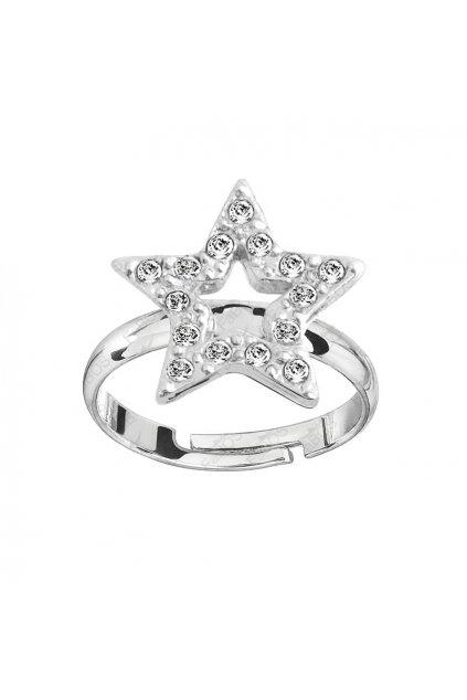 Prsten Hvězda s šatony Crystal Swarovski