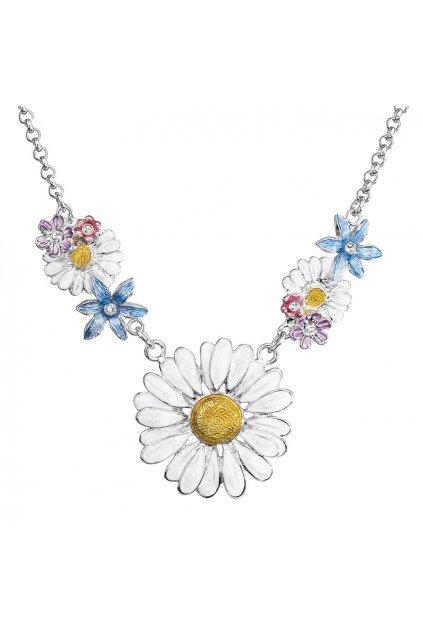 Náhrdelník Kopretina s květy Crystal SWAROVSKI
