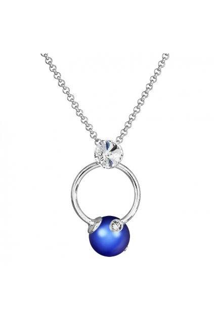 Náhrdelník Perla v kruhu Iridescent Dark Blue SWAROVSKI