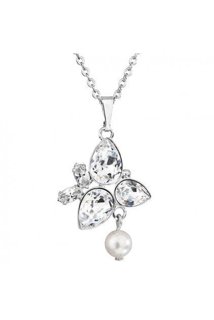 Náhrdelník Hrušky s perlou White pearl SWAROVSKI
