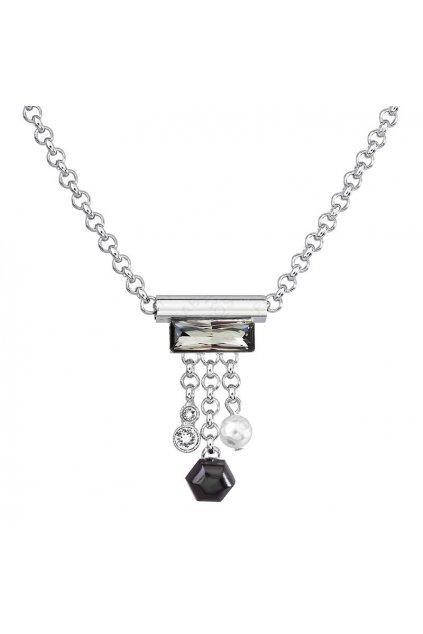 Náhrdelník Trubička s ověsem Black Diamond SWAROVSKI