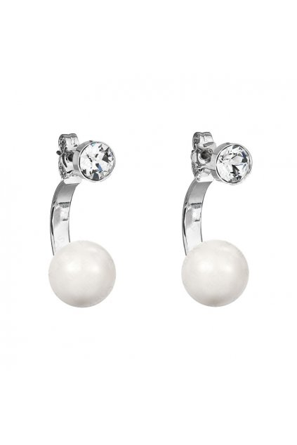 Náušnice Půlkruh perla White Pearl SWAROVSKI