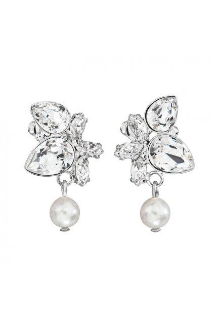 Naušnice Hrušky a navety s perlou crystal SWAROVSKI