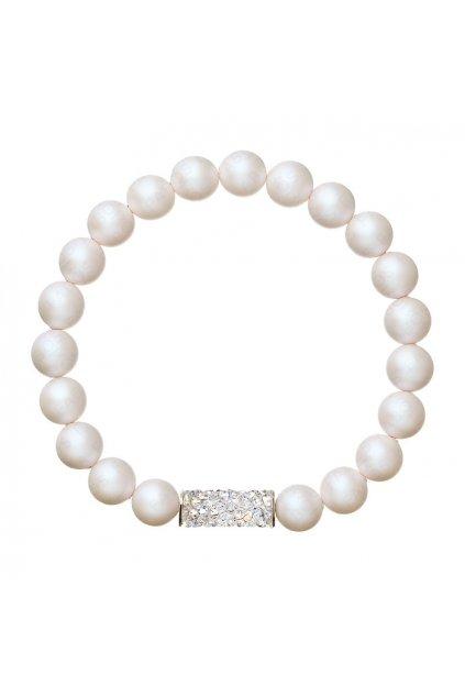Náramek natahovací s perlami Pearlescent Wh. SWAROVSKI