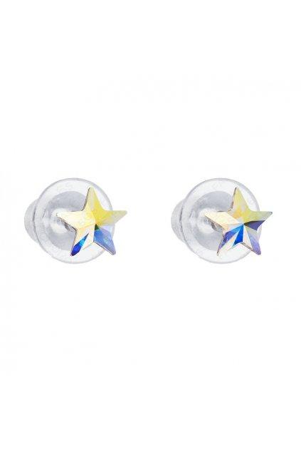 Náušnice Hvězda 5mm Crystal AB SWAROVSKI