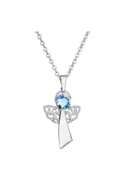 Náhrdelník Anděl víry modro duhový FABOS