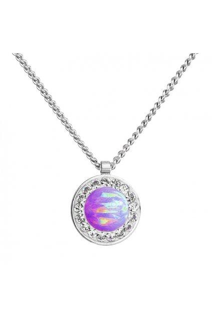 Náhrdelník Fialový opál FABOS