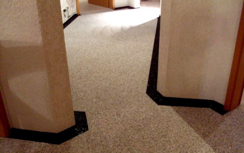 Kamenný koberec interiér