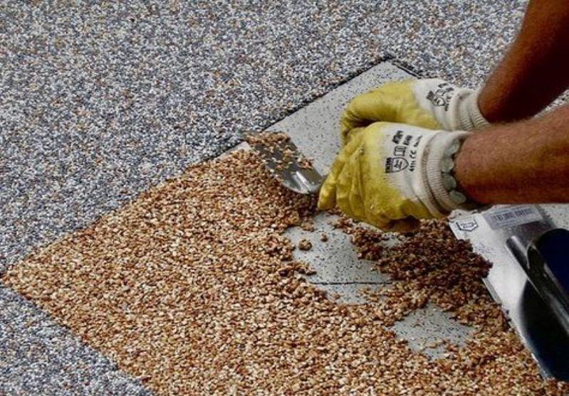 Kamenný koberec postup