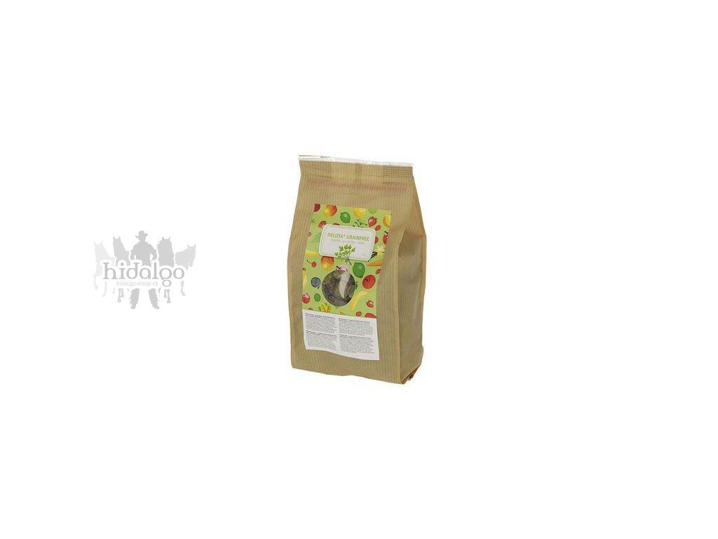pochoutka pro kone delizia grain free bylinky 1kg
