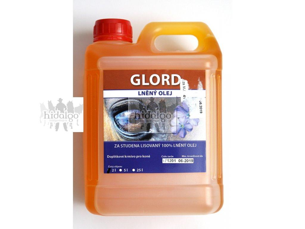 GLORD lněný Omega 3 olej pro koně 5l