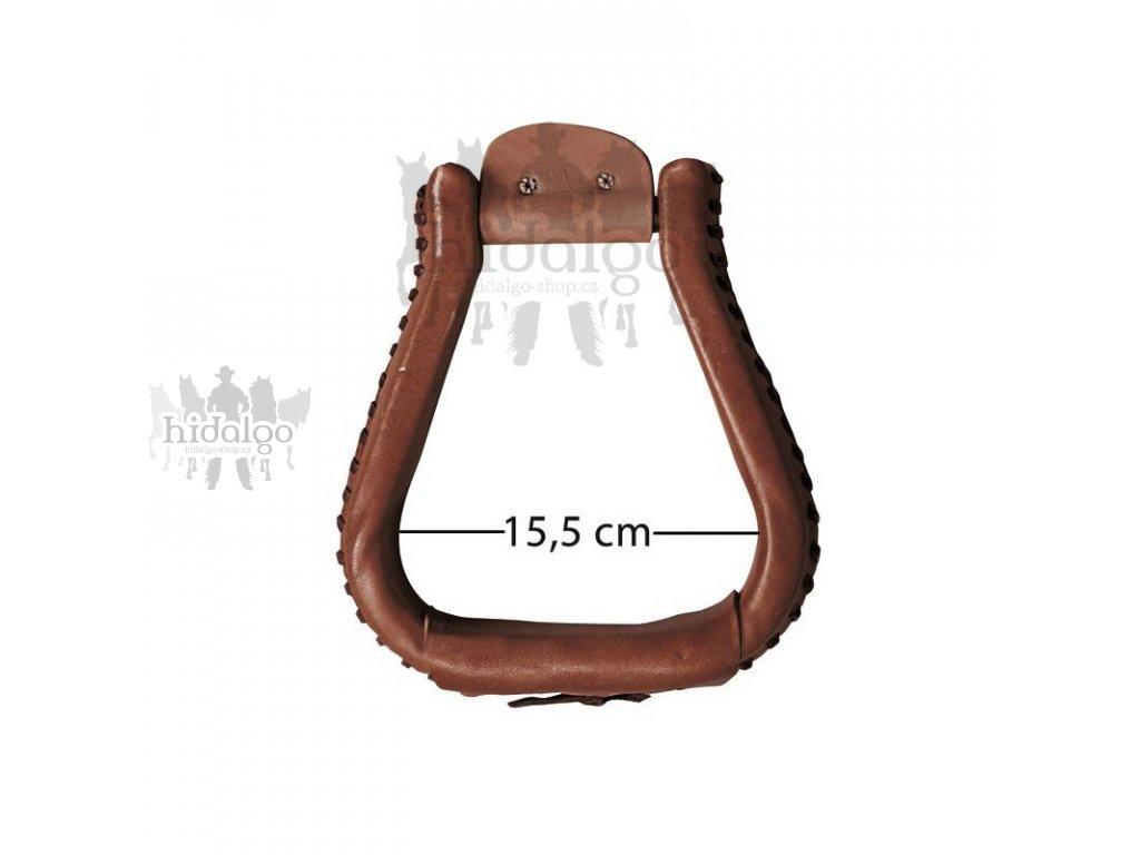 Westernové třmeny potažené kůží XL