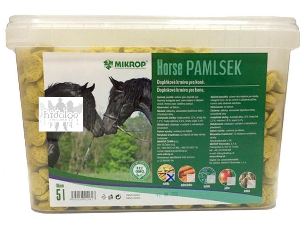 Pamlsky pro koně kyblík 2,5kg Mikrop