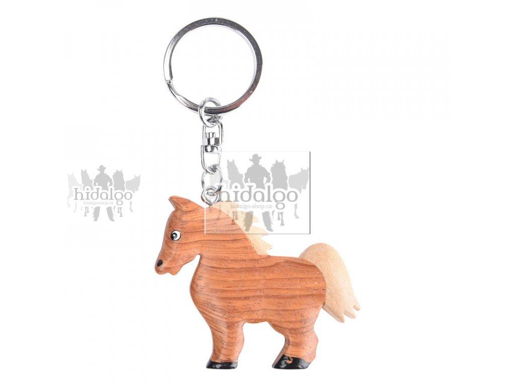 Klíčenka dřevěný koník