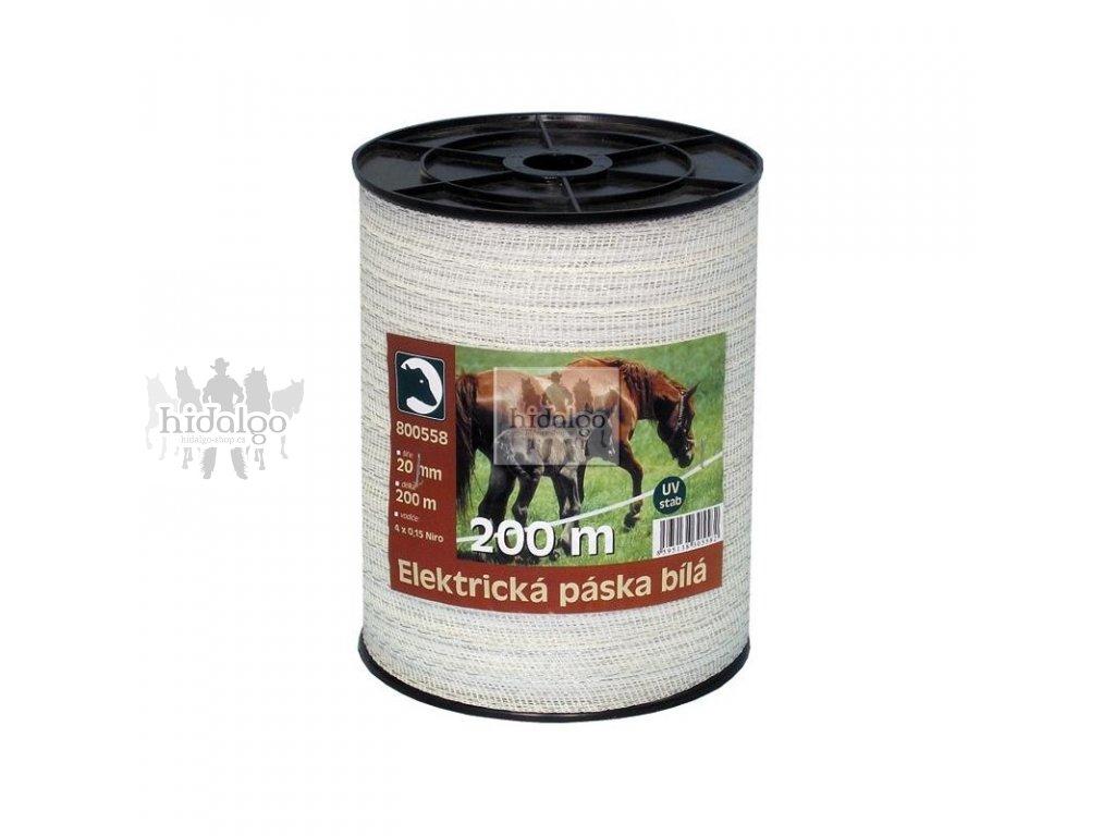 Elektrická páska STANDARD bílá 20mm/200m