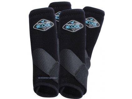 2 x COOL Neoprenové chrániče VenTECH Elite Sports Medicine Boots 4 Pack Black