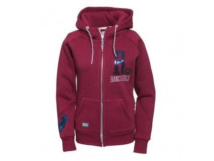 hooded jacket shiny oswsa blue red
